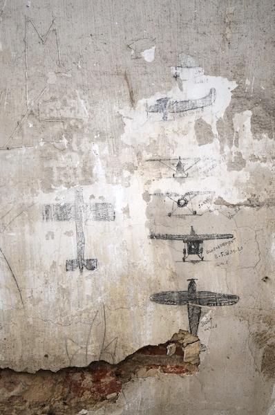 Muurtekeningen vliegtuigen