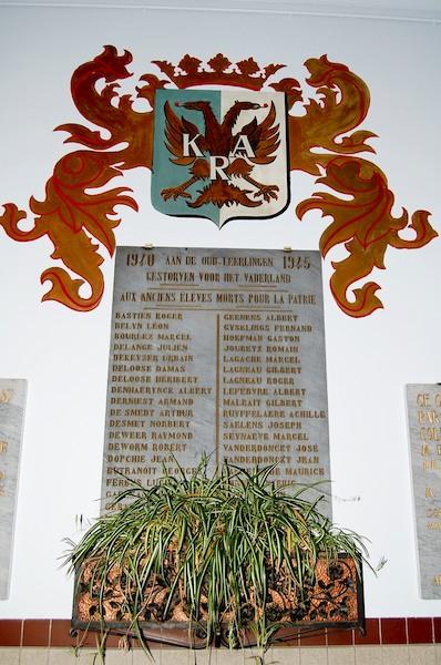 Herdenkingsplaat met naam Lt Malrait