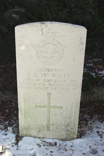 Drie vliegeniers uit Eerste Wereldoorlog – Lt McNally, 2nd Aircraftman Kelly en Lt Brooks
