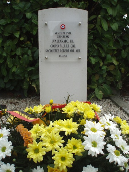Monument Groupe 552, Jean Lux, Paul Colpin en Robert Sacquepee