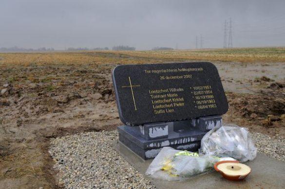 Gedenktsteen slachtoffers heli-ongeval N678LW