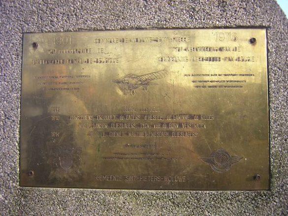Monument voor de Koninklijke Aero Club en voor de eerste pioniers