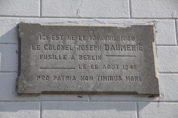Herdenkingsplaat Daumerie