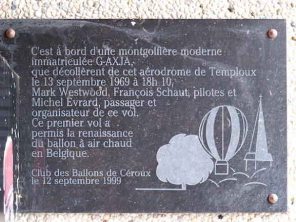Gedenkplaat ballonvlucht