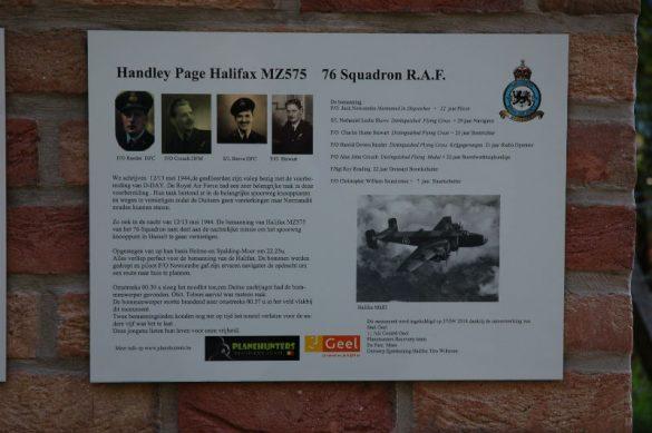 Gedenkteken voor de bemanning van Halifax MZ575