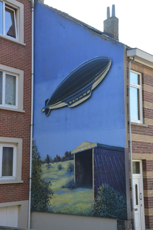 Muurschildering ballonloods Belgique, Oudergem