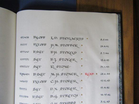 Roll of Honour, F/O Louis Steylaerts