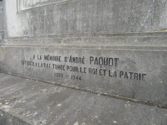 Graf en gedenkteken P/O André Paquot