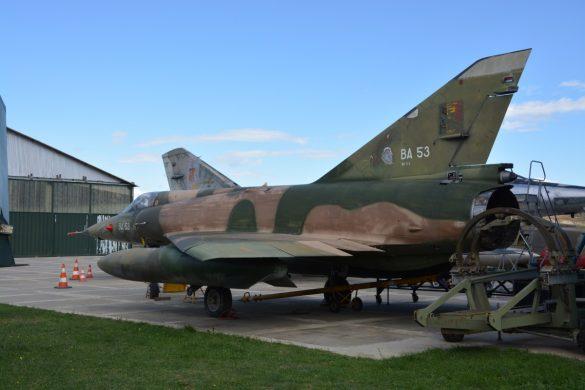 Mirage 5BR BA53 in het Musée Européen de l'Aviation de Chasse