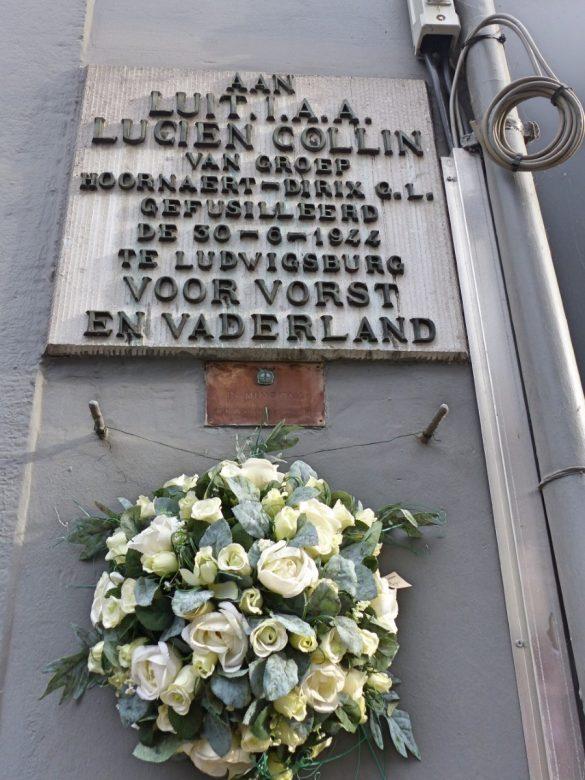 Gedenkplaat voor Lucien Collin