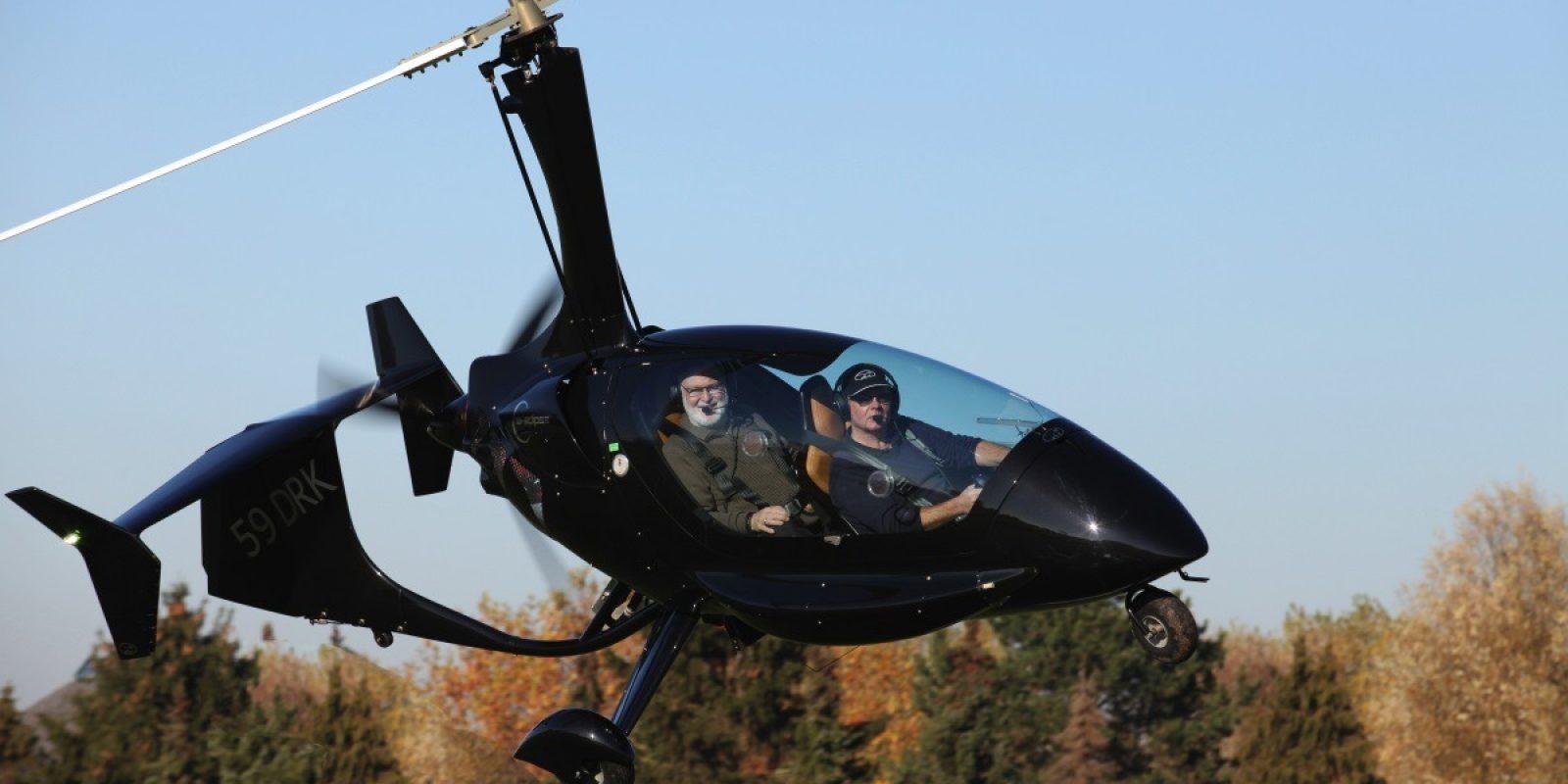 Een overzichtsfoto van de autogyro van Gerrit Ghyllebert. (Foto Jan Vanhulle)
