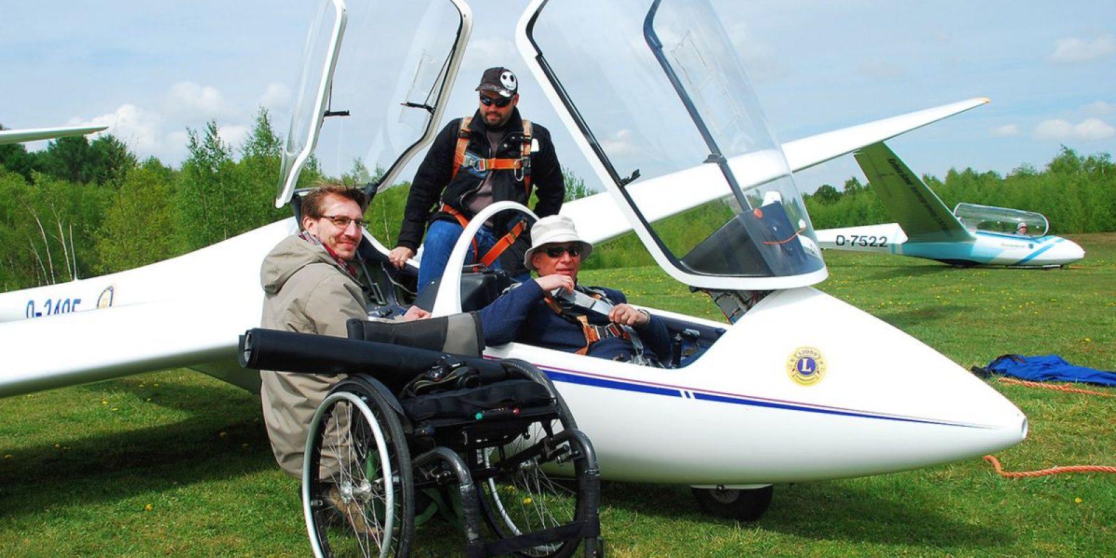 """From wheelchair to pilot seat"". (Photo David Piron)"
